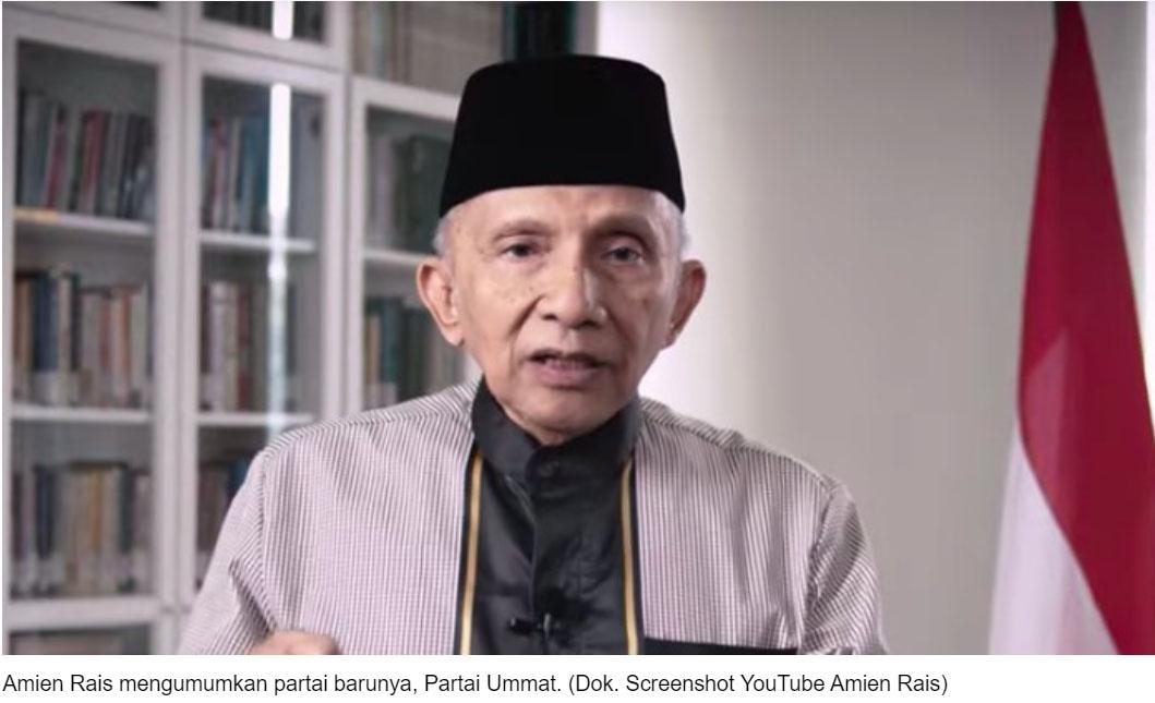 Pernyataan Lengkap Amien Rais Umumkan Partai Ummat | i60news